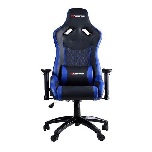 Bergner Gaming Chair - Blue Racing - ergonomisch - 360 graden - kantelbaar