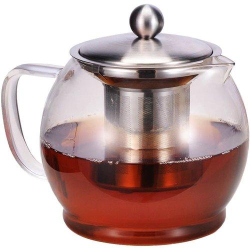 Haushalt International Glazen Theepot met filter - 1.2 liter