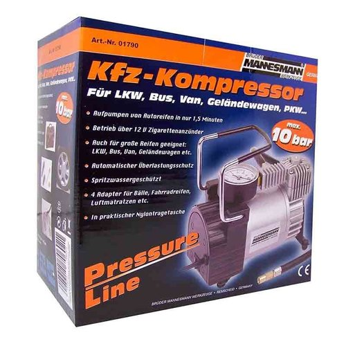 Brudermannesmann Brüder Mannesmann Compressor 12V in draagtas