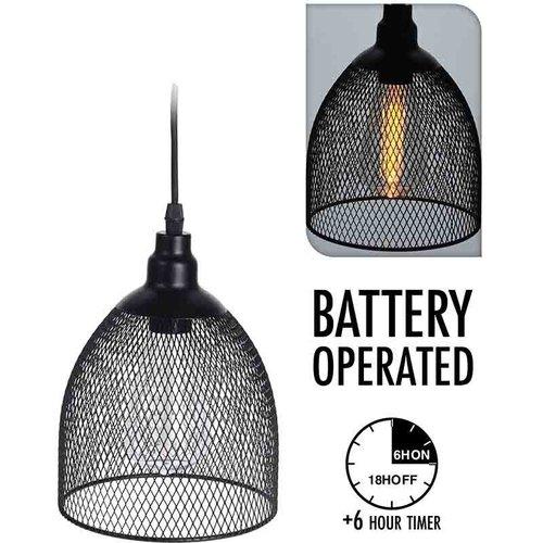 Home&Styling Hanglamp - draad - met timer - bolvorm