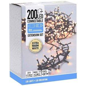DecorativeLighting Koppelbare Kerstverlichting - 200 LED - 6m - extra warm wit
