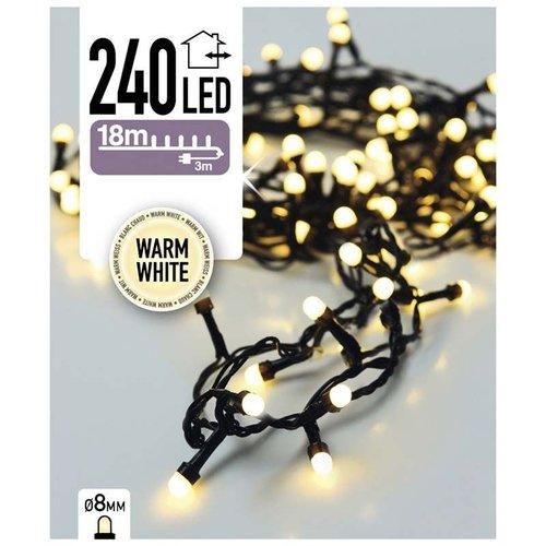 DecorativeLighting LED-verlichting bolletjes 240 LED's 18 meter warm wit