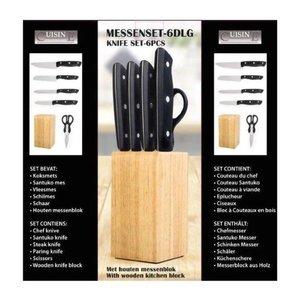 Cuisine Performance Messenset in houten blok