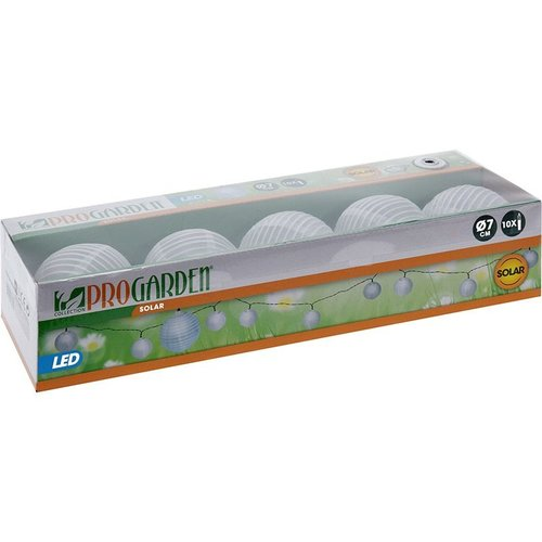 ProGarden Solar LED lampionnen - 10 stuks wit