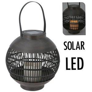 Home&Styling Solar lantaarn LED 23 cm - basket