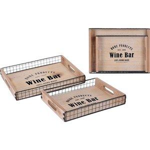 "Home&Styling Dienbladen ""Wine Bar"" - 2 stuks"
