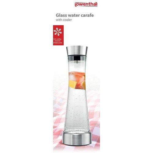 Lowenthal Glazen Waterkaraf met koeler - 1 liter