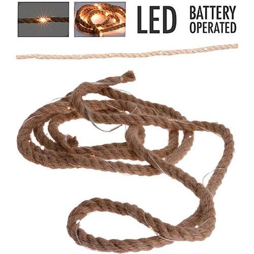 Ceruzo Jute touw met ledverlichting - 1.50 meter