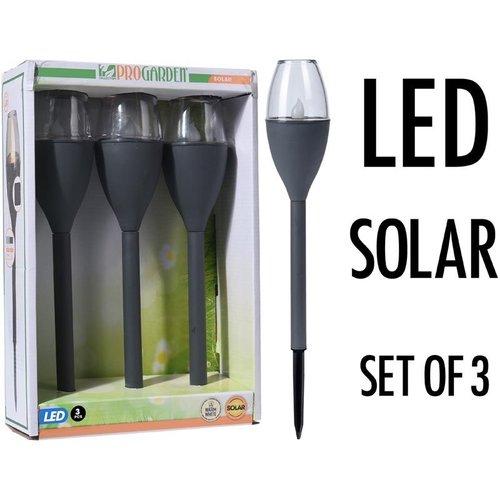 ProGarden Solar LED Tuinverlichting - Set van 3