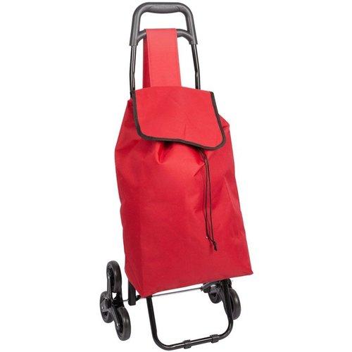 Boodschappentrolley - Handige Trappenloper - rood