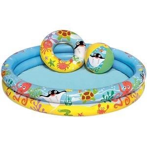 Bestway Zwembad met bal en zwemring - 122x20cm