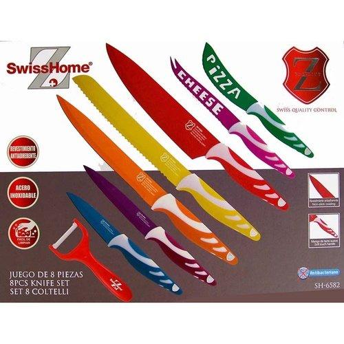Swiss Home RVS Messenset 8 delig