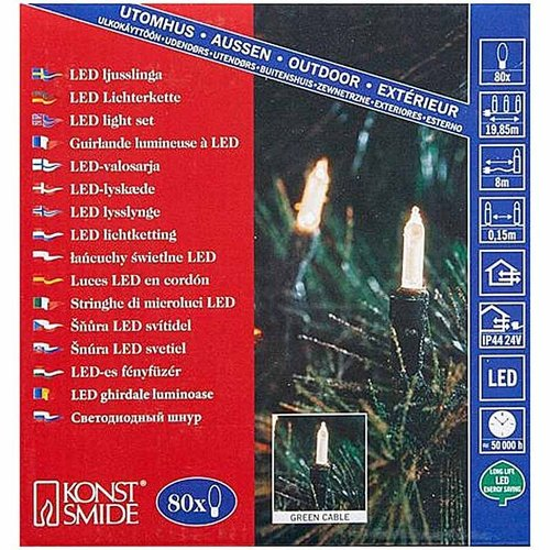 Konstsmide LED Kerstverlichting - 80 mini lampjes - 12 meter - warm wit
