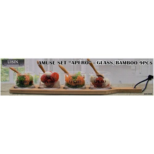 Cuisine Performance Amuse-Tapasset met bamboe dienblad