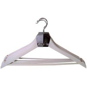 Set van 4 kledinghangers wit