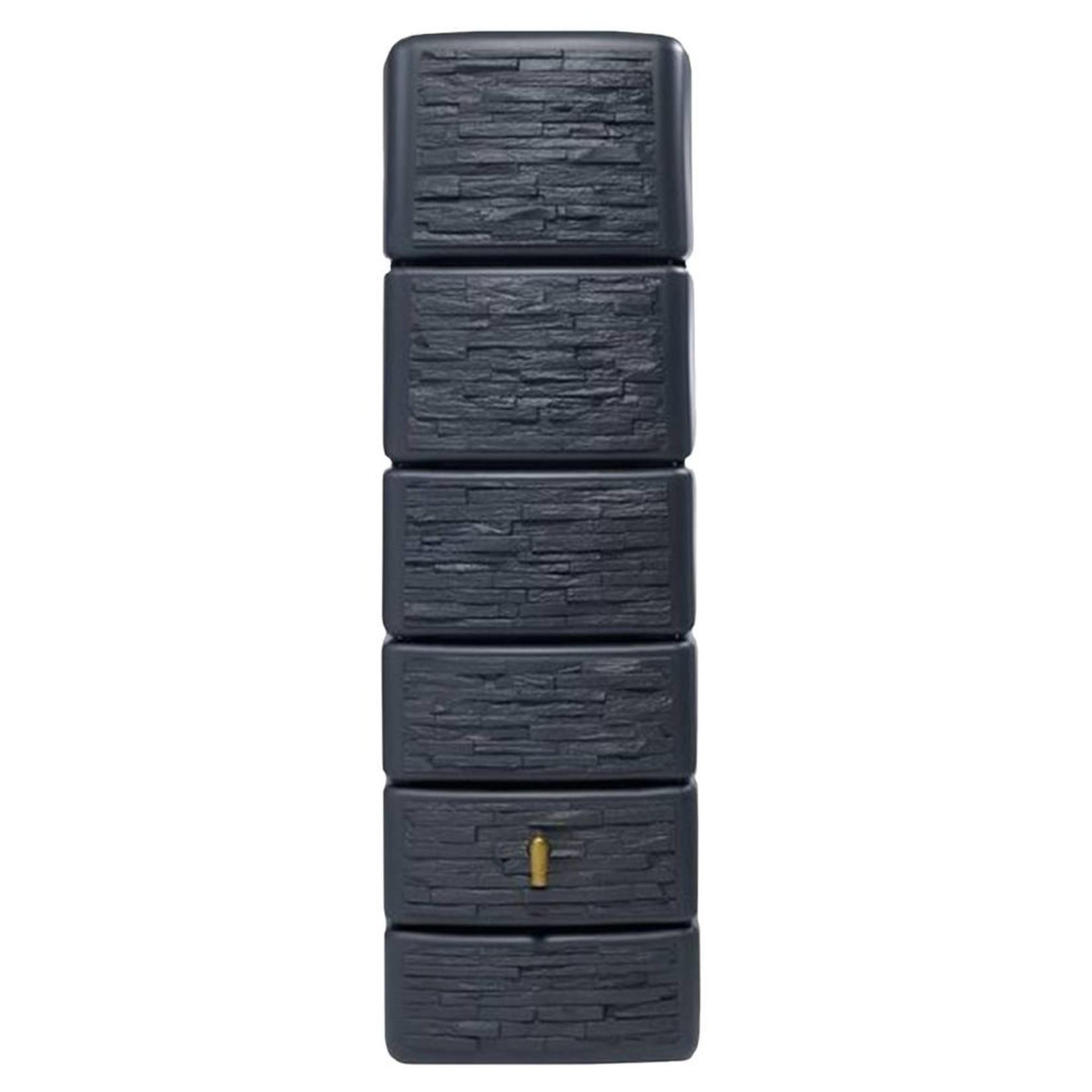 Garantia SLIM wandtank 300 l. stone decor antraciet l.58xb.37xh.182