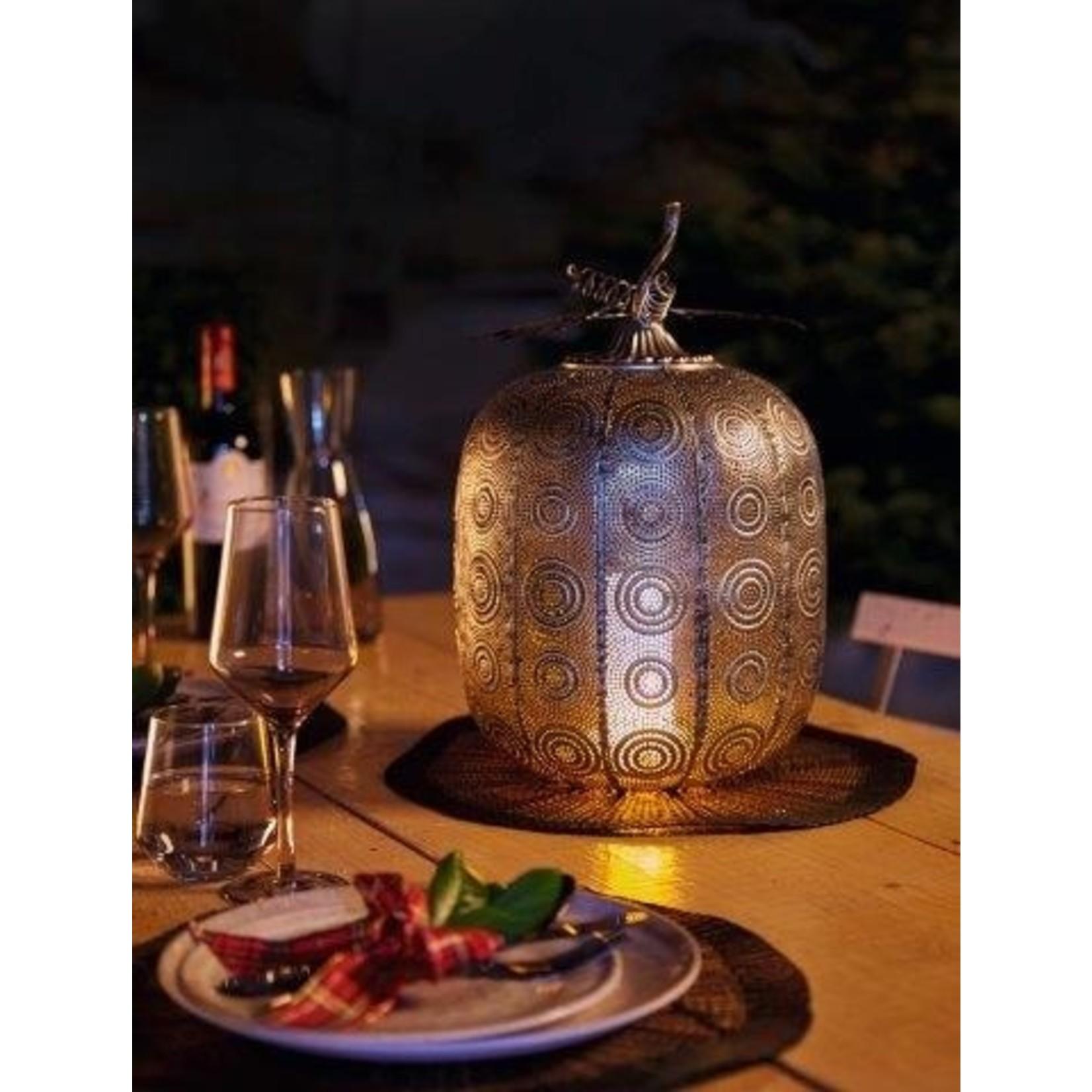 Luxform Luxform Pompoen lamp Tall Antique Silver
