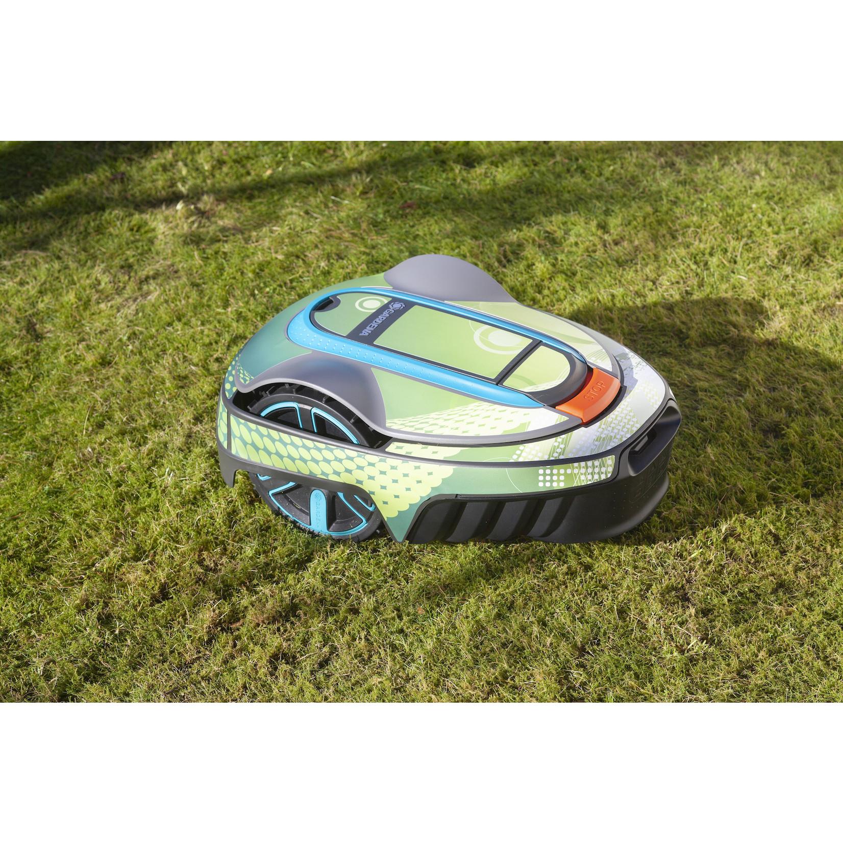 Twinckels Twinckels robotmaaier stickerset (Gardena Sileno) - Geo Groen 2