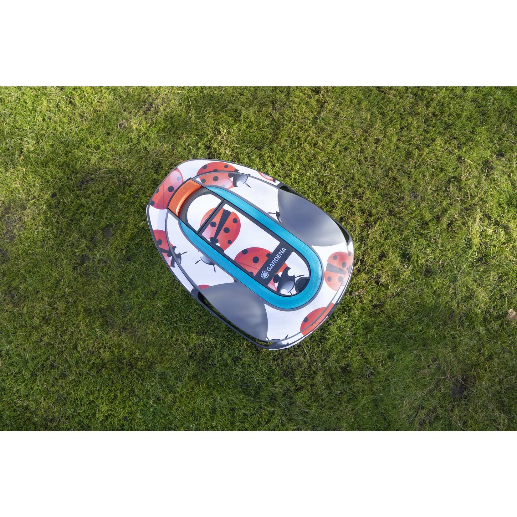 Twinckels Twinckels robotmaaier stickerset (Gardena Sileno) - Lieveheersbeestje