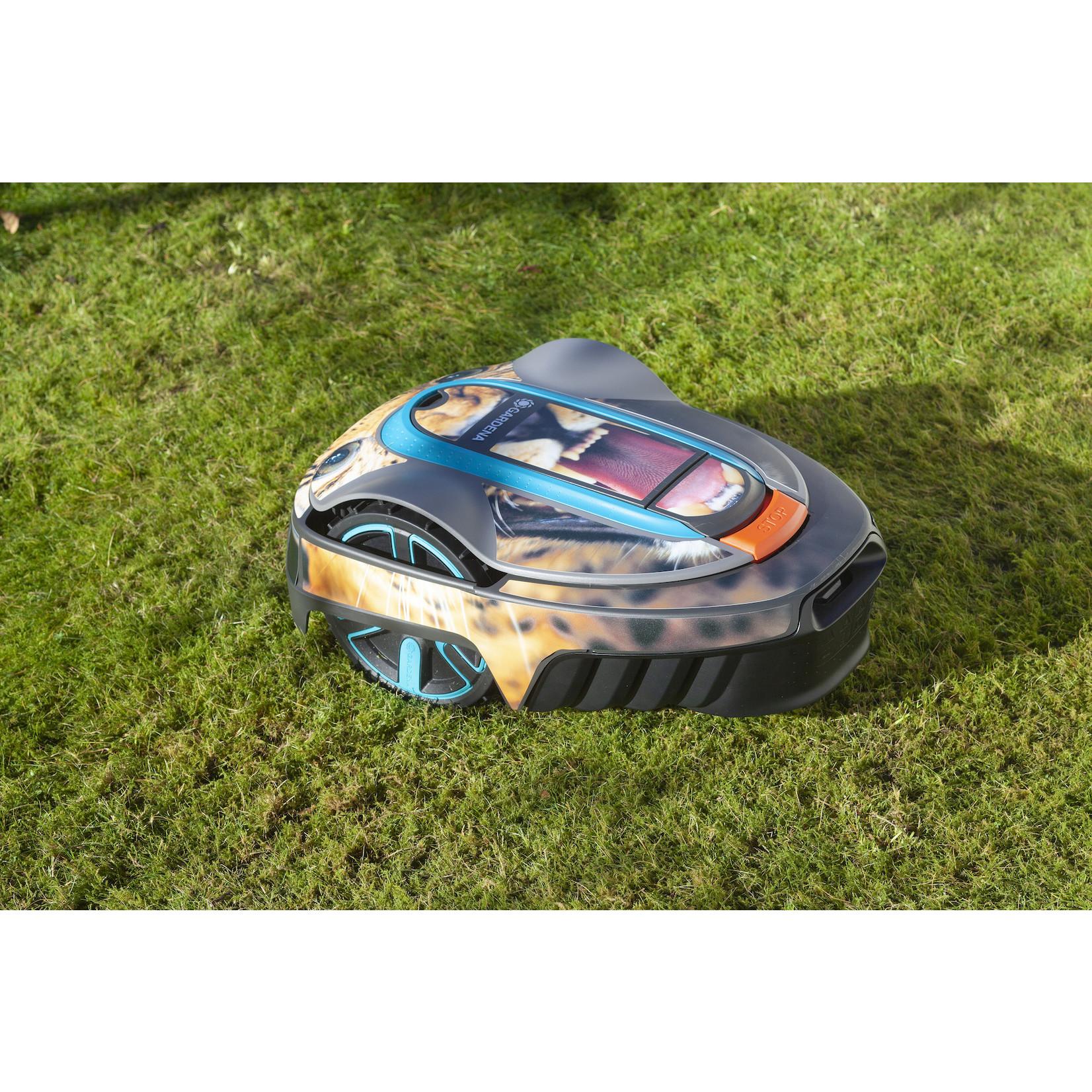Twinckels Twinckels robotmaaier stickerset (Gardena Sileno) - Luipaard