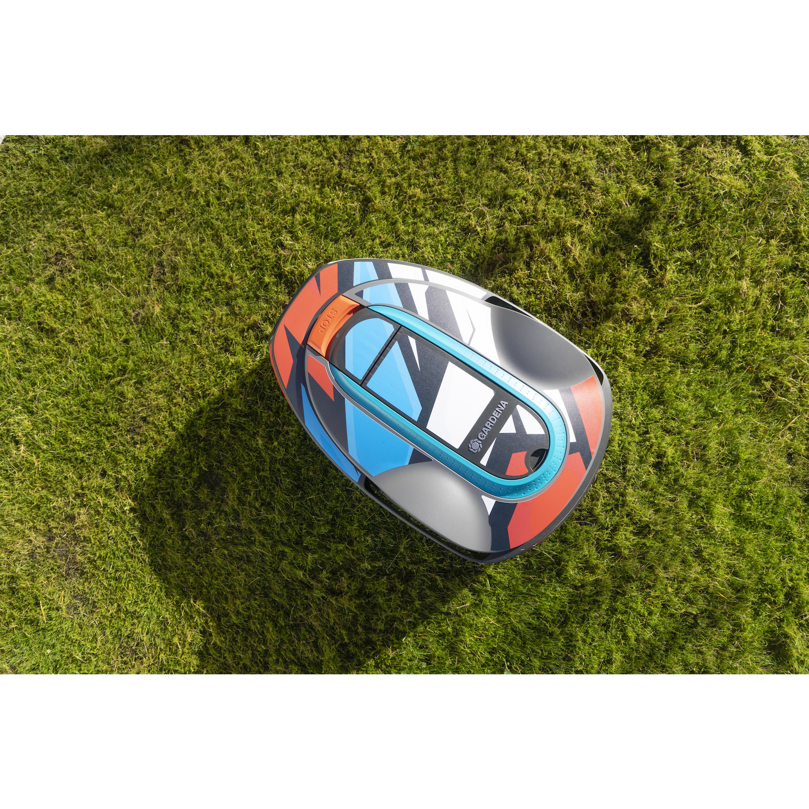 Twinckels Twinckels robotmaaier stickerset (Gardena Sileno) - RWB Patroon