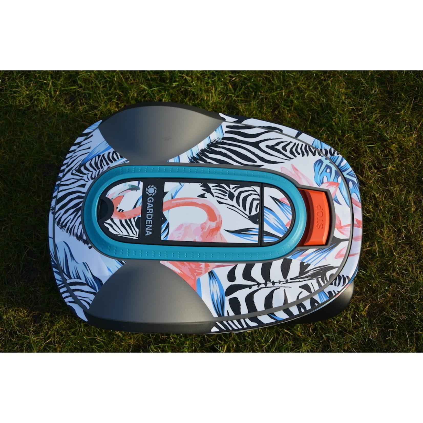 Twinckels Twinckels robotmaaier stickerset (Gardena Sileno) - Zebra