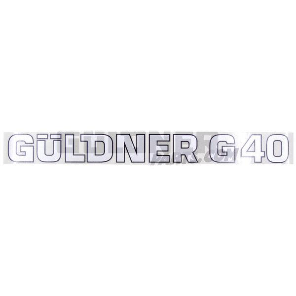 Güldner Schriftzug Güldner G40
