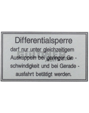 Güldner Sticker differtentieel