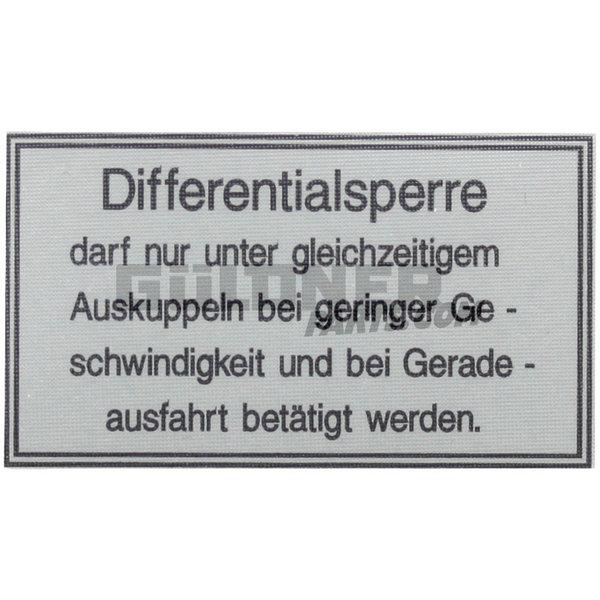 Güldner Sticker differtentieel