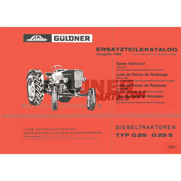 Güldner Onderdelenlijst G60