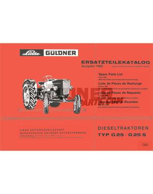 Güldner Lijst technische gegevens motor