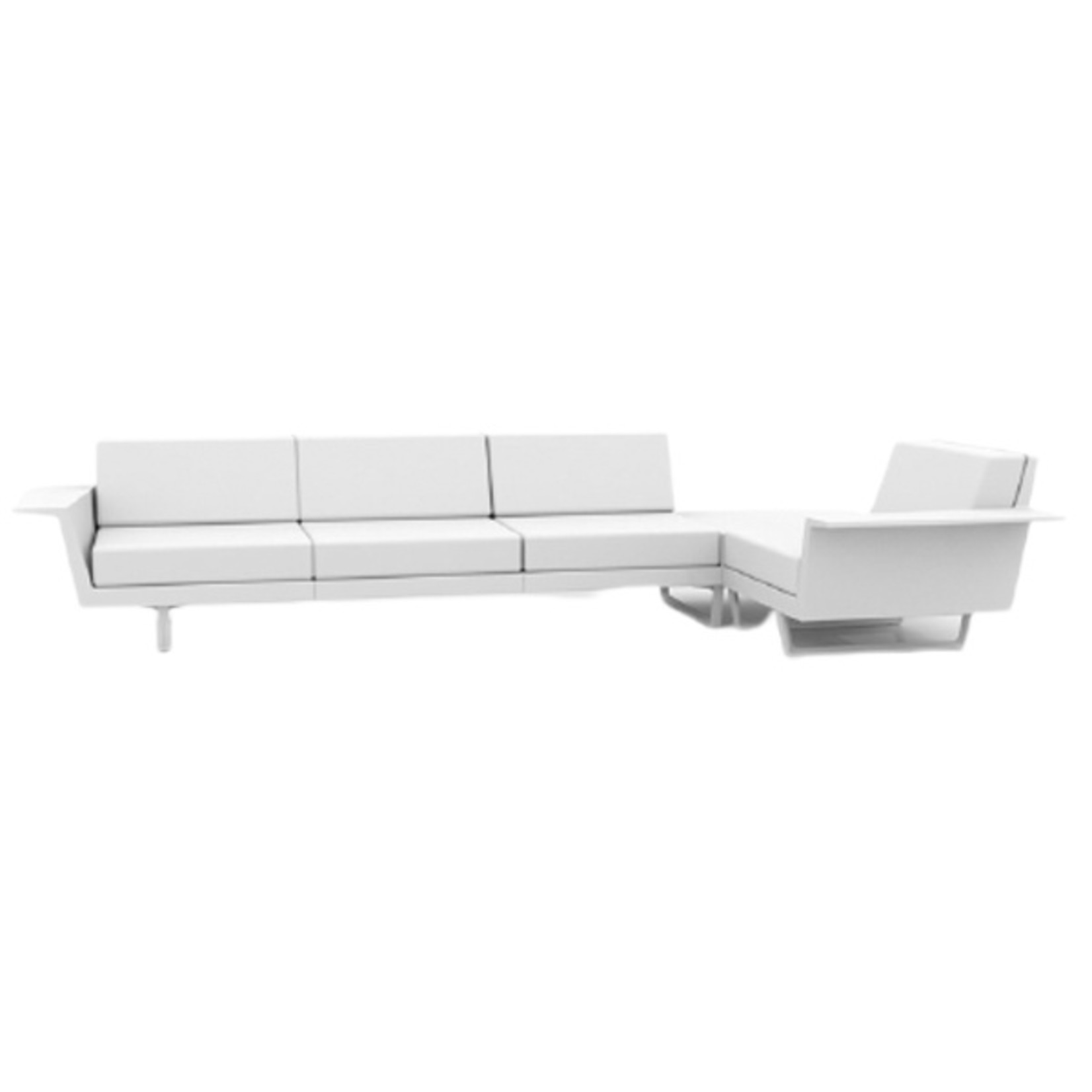 Vondom DELTA Corner Sofa left 4 seat