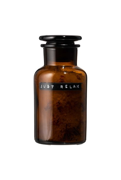 Bath salt roses amber pharmacy jar 250ml 'just relax'