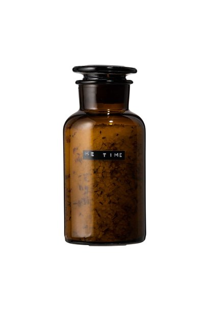 Bath salt lavender amber pharmacy jar 500ml 'me time'