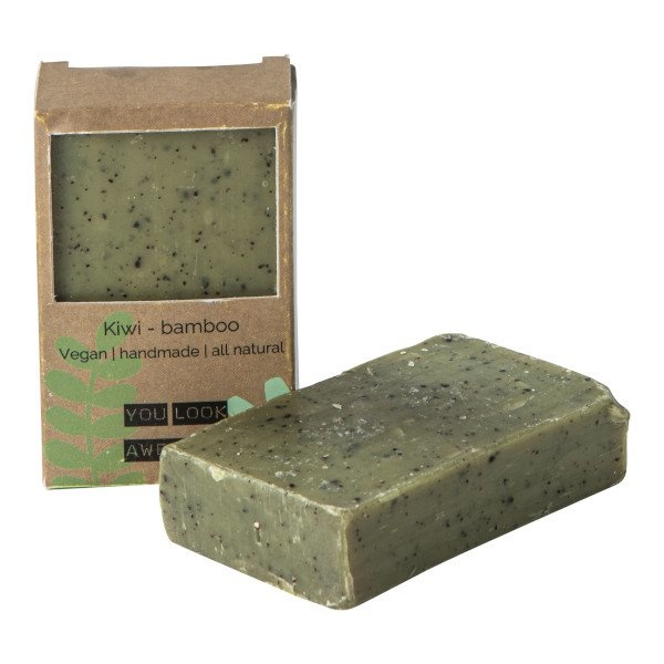Vegan soap bar - kiwi bamboe-1