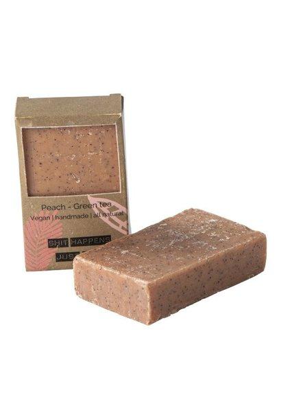 Vegan soap bar - peach green tea
