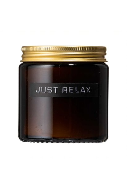Small fragrance candle cedarwood amber glass 'just relax'