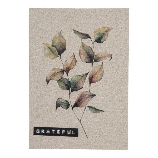 Postcard recycled branch 'grateful'-1