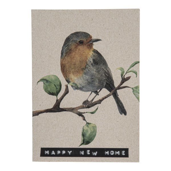Postcard recycled bird 'happy new home'-1