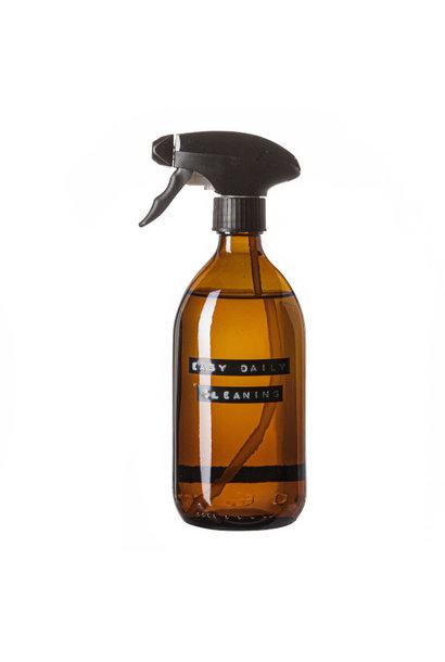Cleaner spray bruin glas zwarte pomp 500ml 'easy daily cleaning'