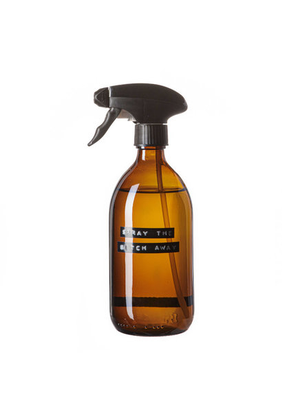 Cleaner spray amber glass black pump 500ml 'spray the bitch away'