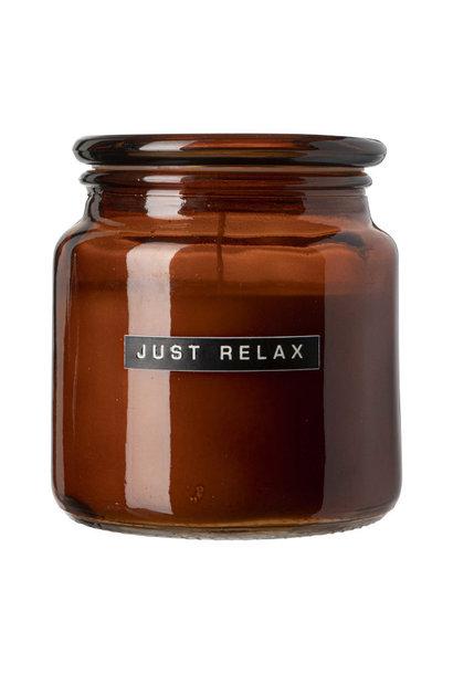 Big fragrance candle cedarwood amber glass 'light my fire'