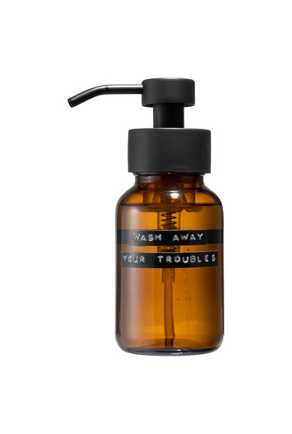 Body wash amber black 250ml 'wash away your troubles'