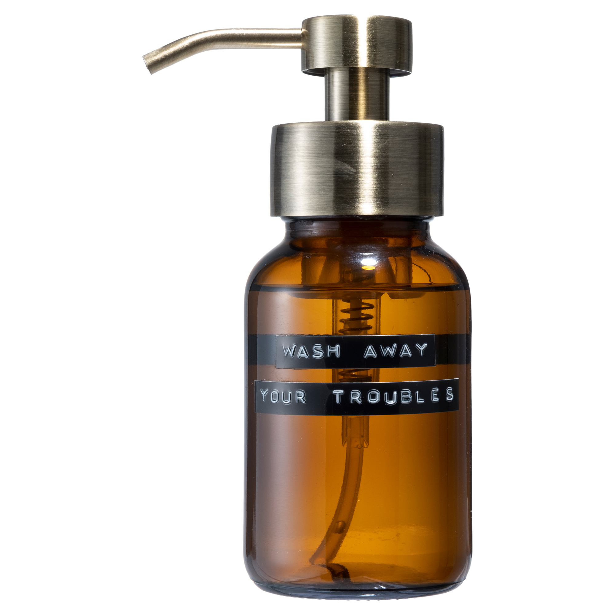Body wash amber brass 250ml 'wash away your troubles'-1