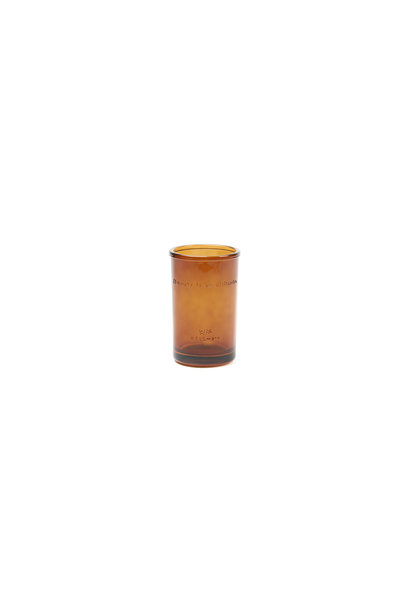 Toothbrush holder amber glass 'Beauty is an attitude'