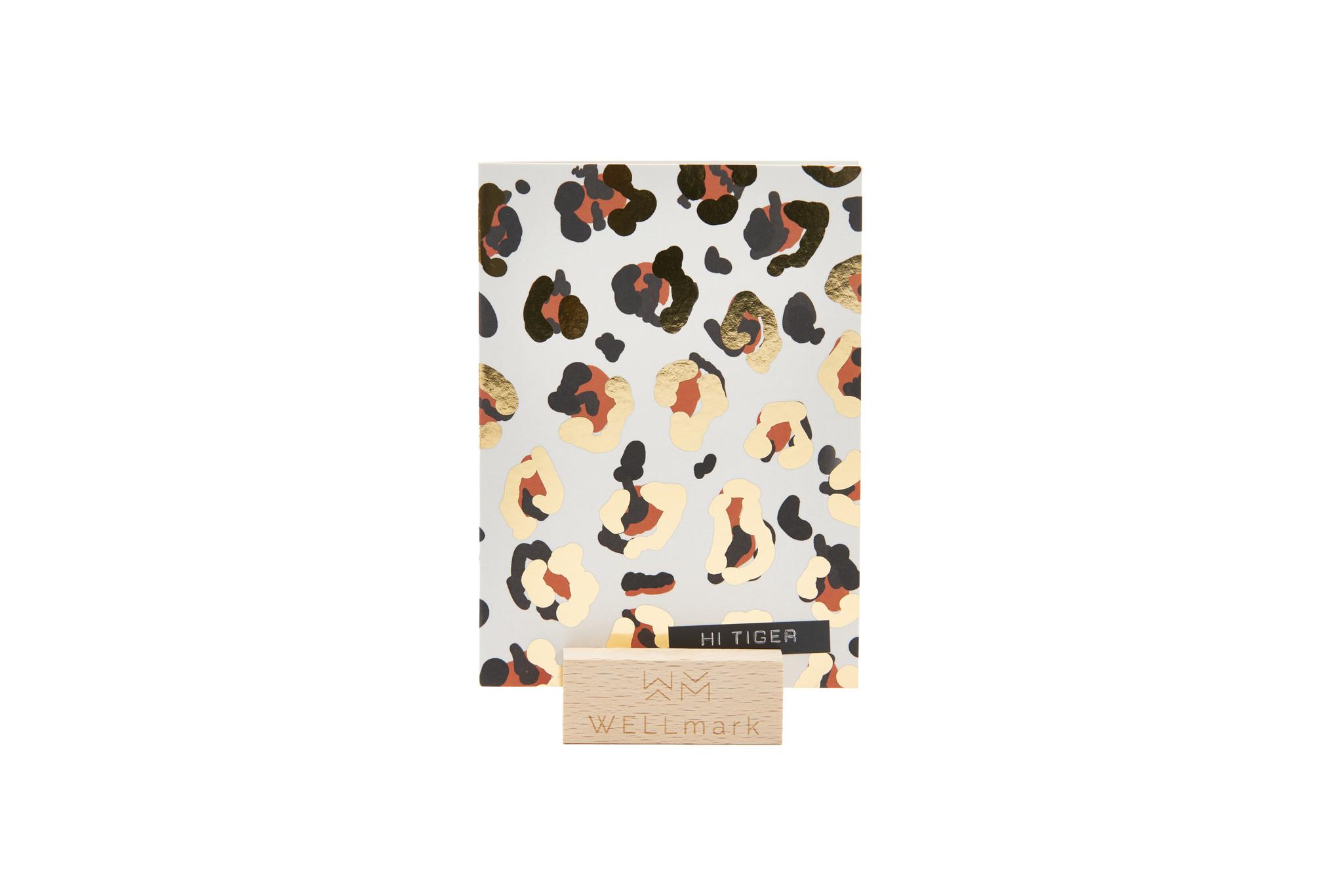 Postcard Gold design recycled  panter 'hi tiger'-1