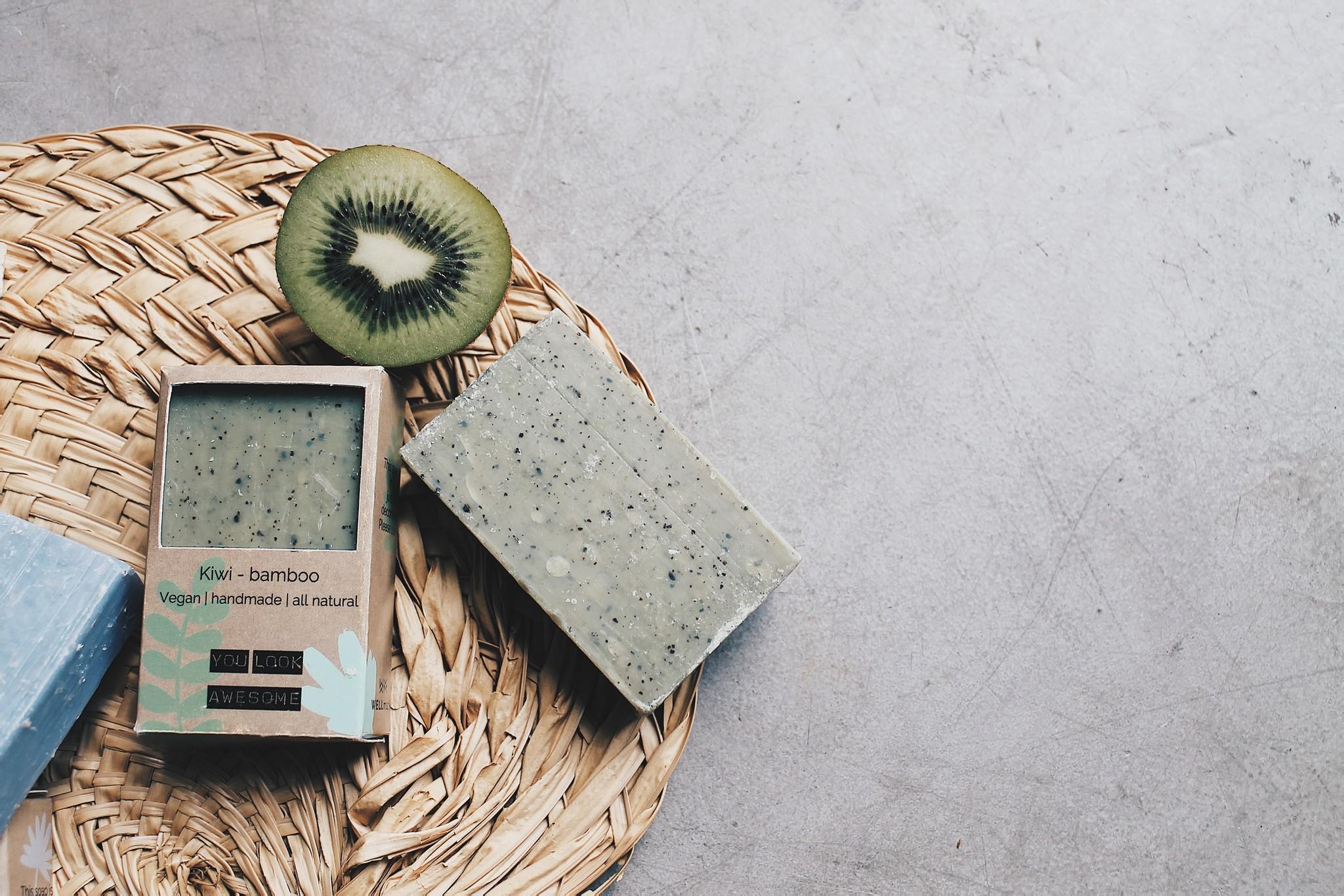 Vegan soap bar - kiwi bamboe-3