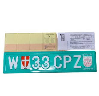 Transit plate trailer valid for 21 days