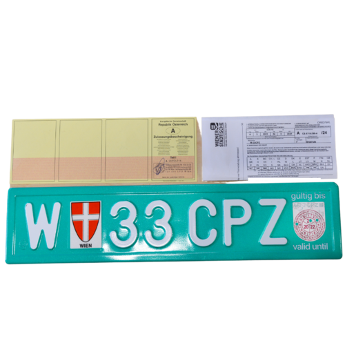 Transit plate trailer valid for 21 days.