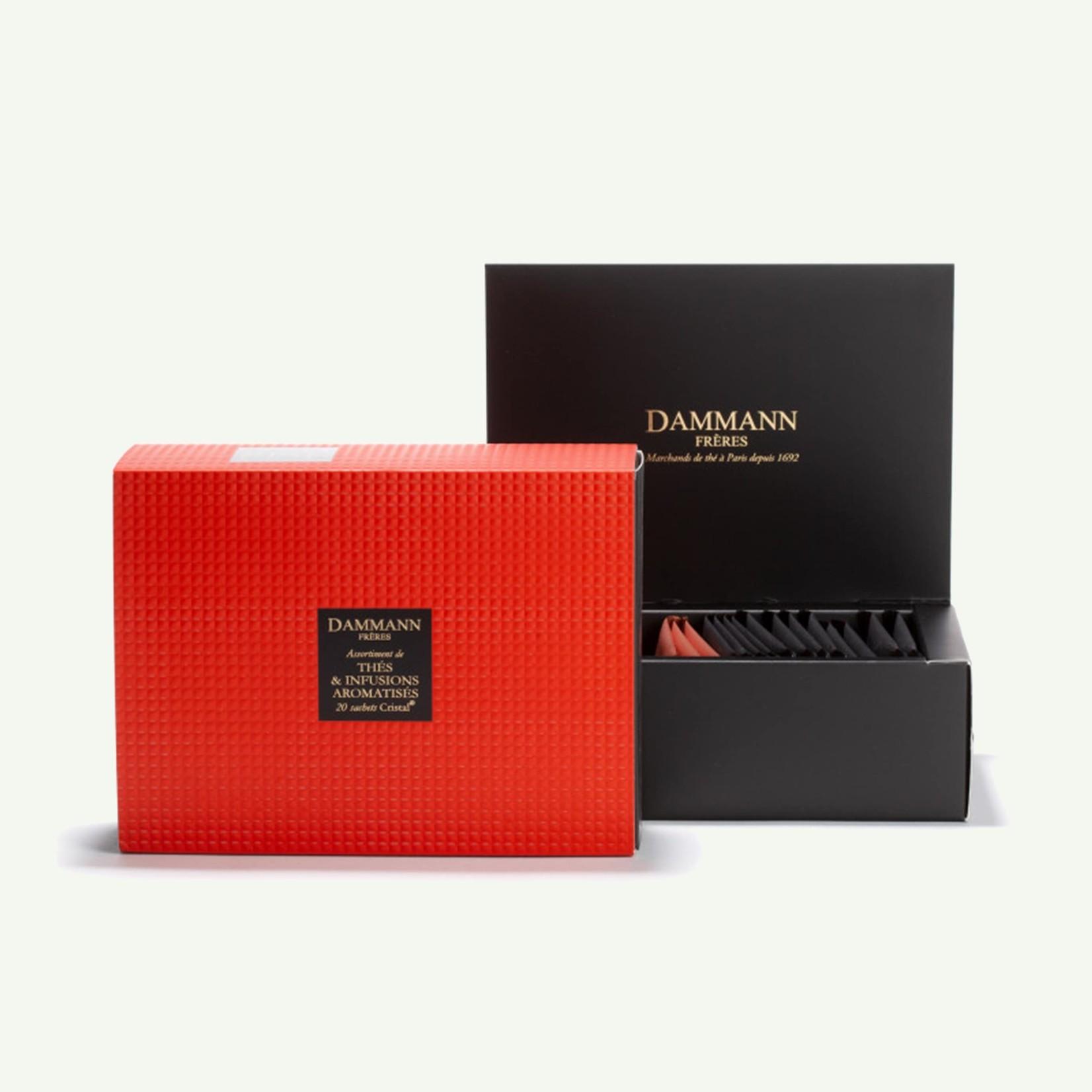 """Dammann Dammann """"Ambre"""" Gift Set - Assortiment van 20 theezakjes - Gearomatiseerde Blends"""